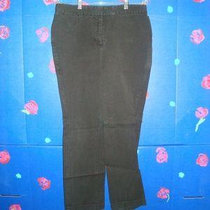 VINTAGE MOSSIMO STRETCH BLACK PANTS SIZE 10